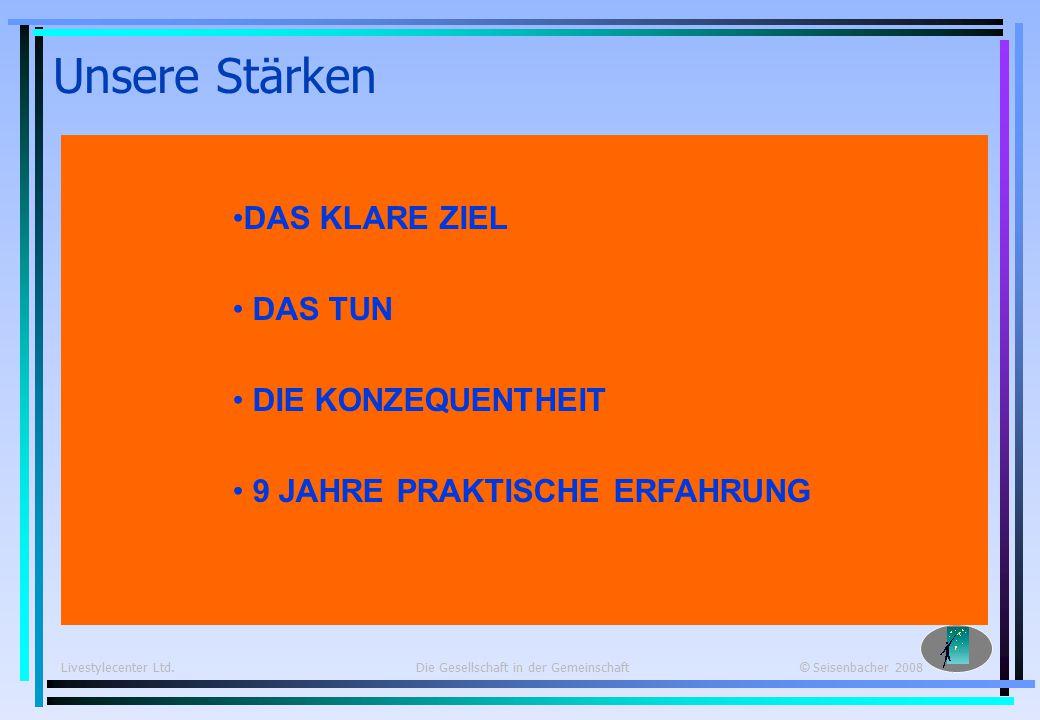 Livestylecenter Ltd. Die Gesellschaft in der Gemeinschaft © Seisenbacher 2008 € 29.- pro Jahr.