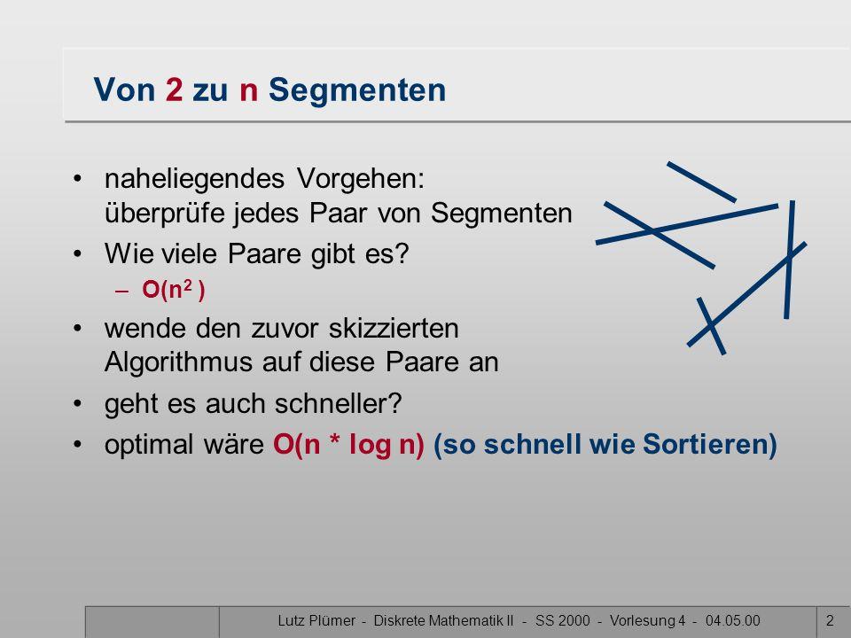 Institut für Kartographie und Geoinformation Prof. Dr. Lutz Plümer Diskrete Mathematik II Foliendesign: Jörg Steinrücken & Tobias Kahn Vorlesung 5 11.