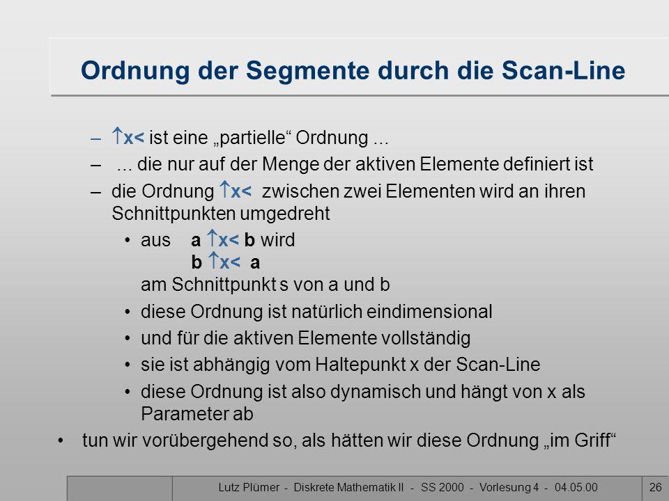 "Lutz Plümer - Diskrete Mathematik II - SS 2000 - Vorlesung 4 - 04.05.0025 Ordnungsrelation ""  x <'' x x' B A C A  x < B A  x < C C  x' < A C  x <"