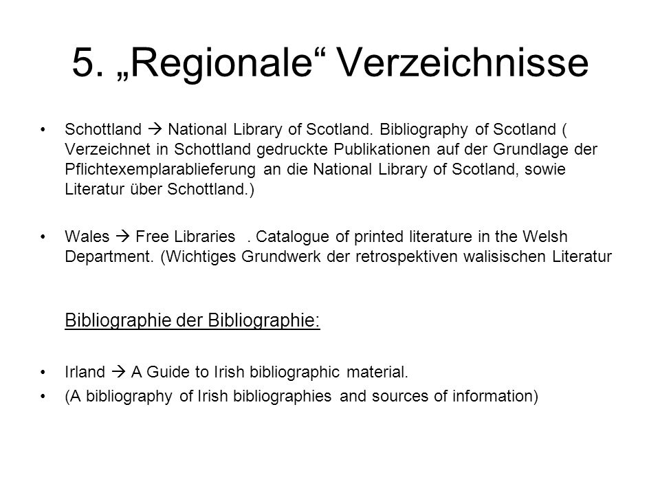 "5.""Regionale Verzeichnisse Schottland  National Library of Scotland."