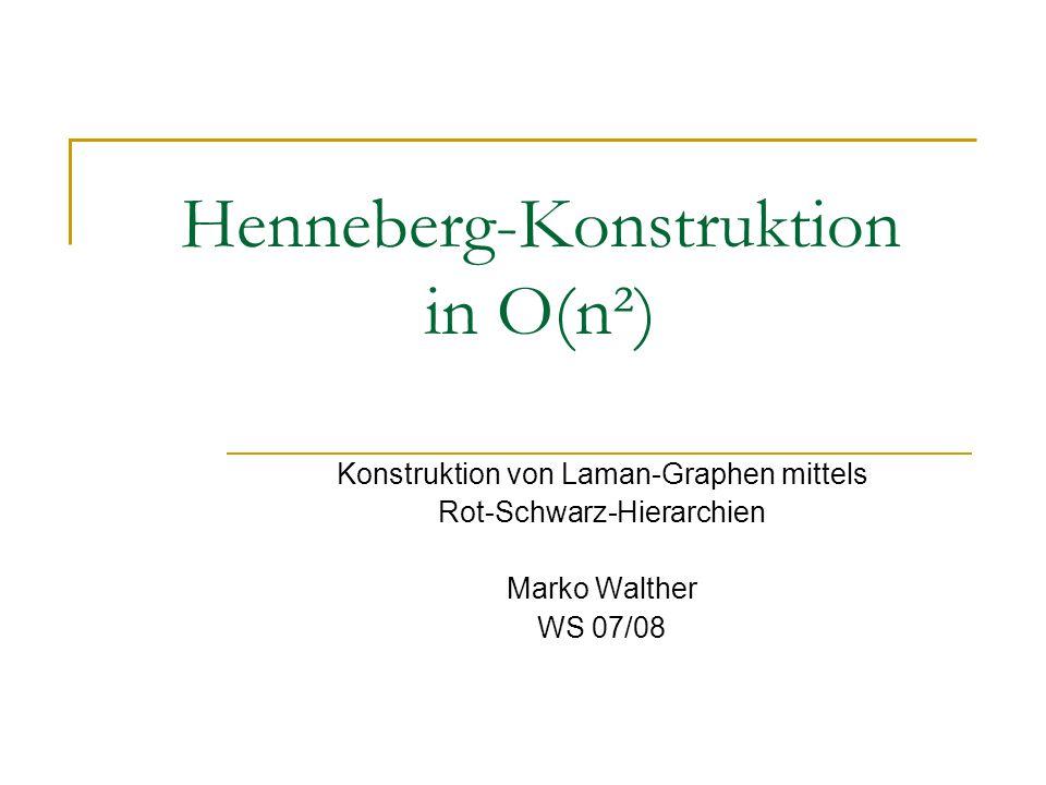 Henneberg-Konstruktion in O(n²) Konstruktion von Laman-Graphen mittels Rot-Schwarz-Hierarchien Marko Walther WS 07/08