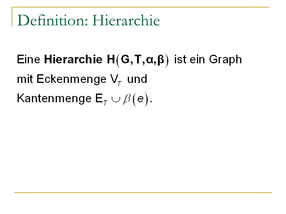 Definition: Hierarchie