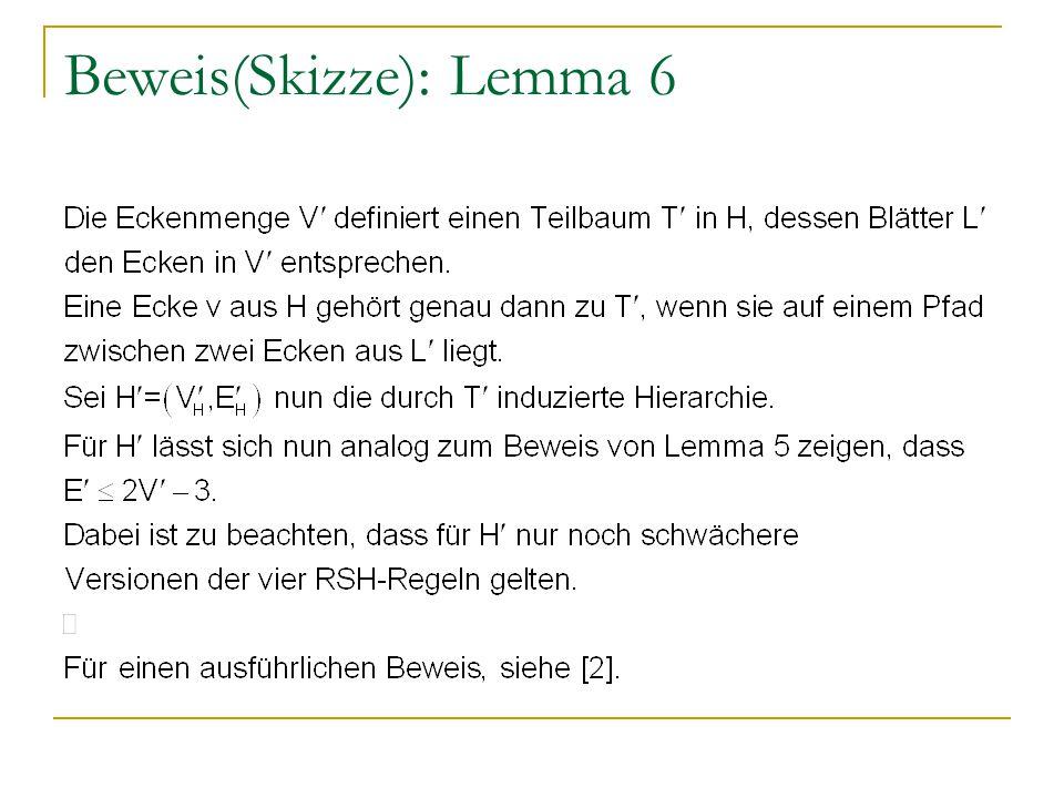 Beweis(Skizze): Lemma 6