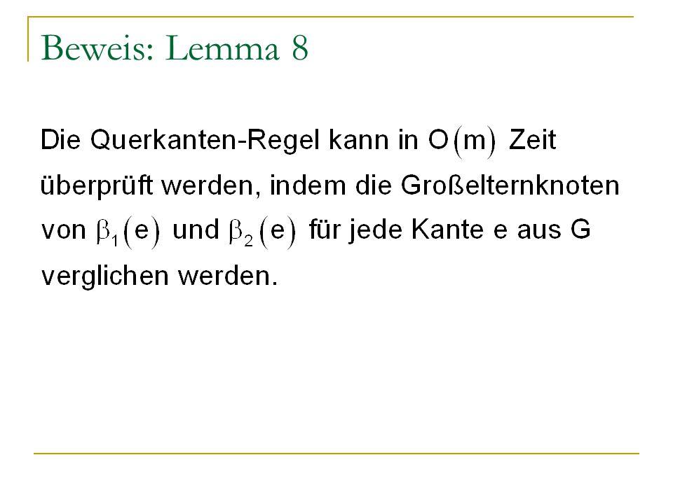 Beweis: Lemma 8