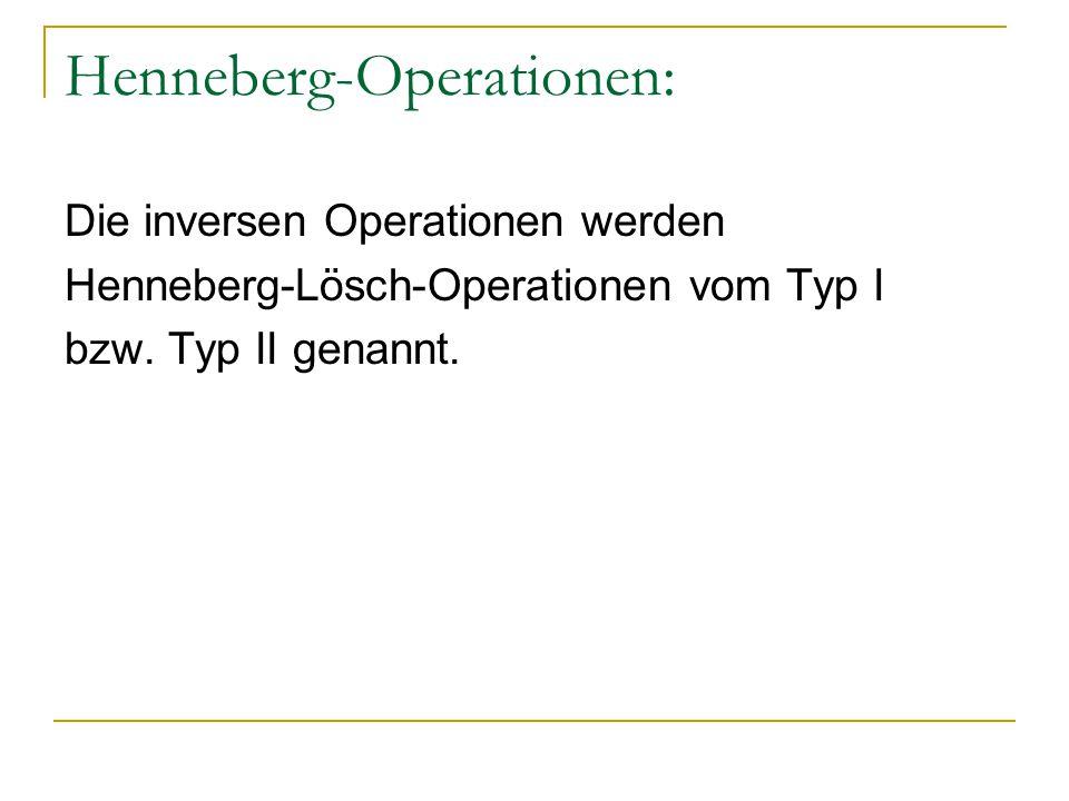 Henneberg-Operationen: Die inversen Operationen werden Henneberg-Lösch-Operationen vom Typ I bzw. Typ II genannt.