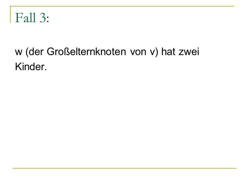 Fall 3: w (der Großelternknoten von v) hat zwei Kinder.