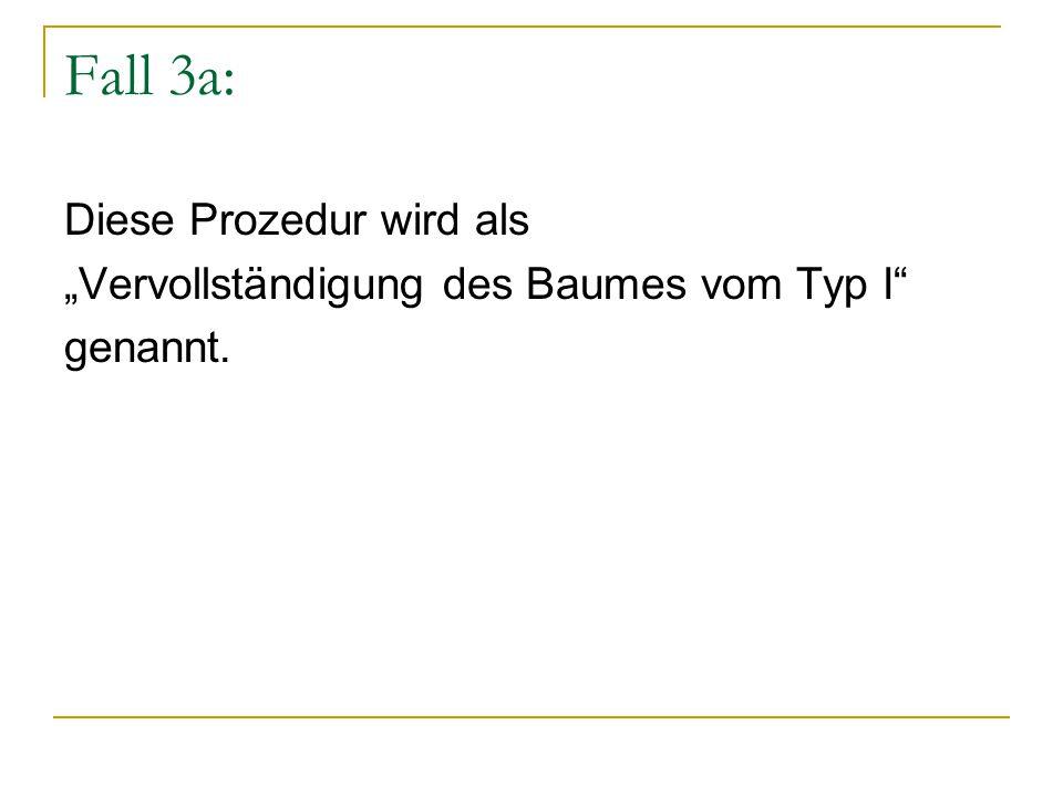 """Fall 3a: Diese Prozedur wird als """"Vervollständigung des Baumes vom Typ I genannt."""