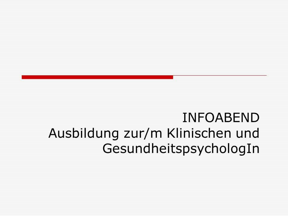 Überblick  Allgemeines zur Ausbildung  Theorie Ausbildung BÖP GkPP ÖTZ KlinGes