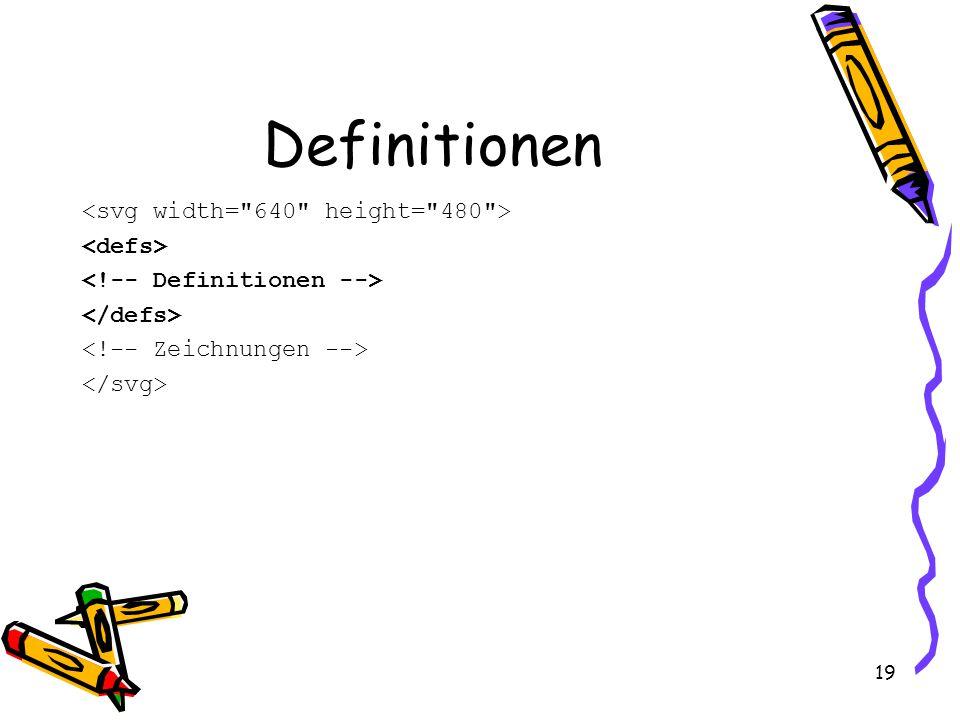 19 Definitionen