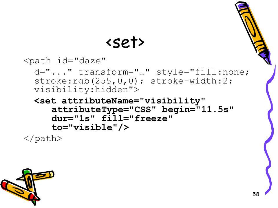 58 <path id= daze d= ... transform= … style= fill:none; stroke:rgb(255,0,0); stroke-width:2; visibility:hidden >