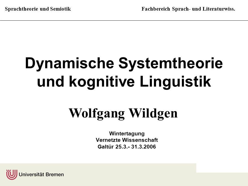 Sprachtheorie und SemiotikFachbereich Sprach- und Literaturwiss. Dynamische Systemtheorie und kognitive Linguistik Wintertagung Vernetzte Wissenschaft