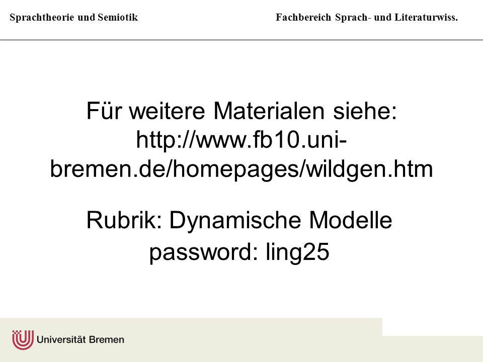 Sprachtheorie und SemiotikFachbereich Sprach- und Literaturwiss. Für weitere Materialen siehe: http://www.fb10.uni- bremen.de/homepages/wildgen.htm Ru