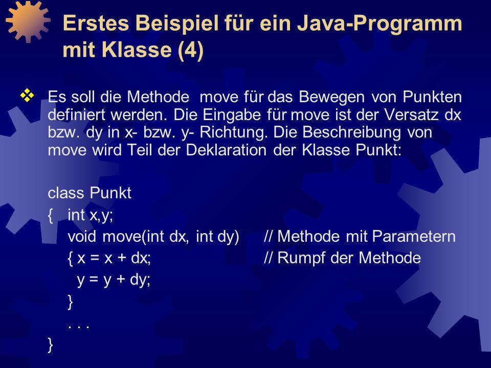  Es soll die Methode move für das Bewegen von Punkten definiert werden.