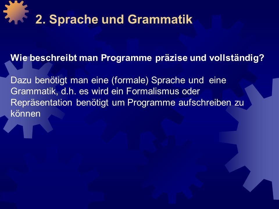 Wie beschreibt man Programme präzise und vollständig.