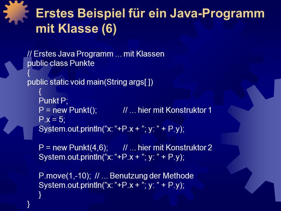 // Erstes Java Programm...
