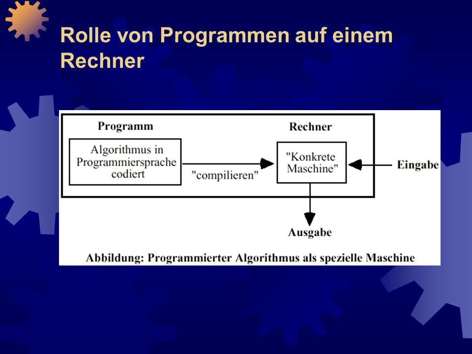 Rolle von Programmen auf einem Rechner