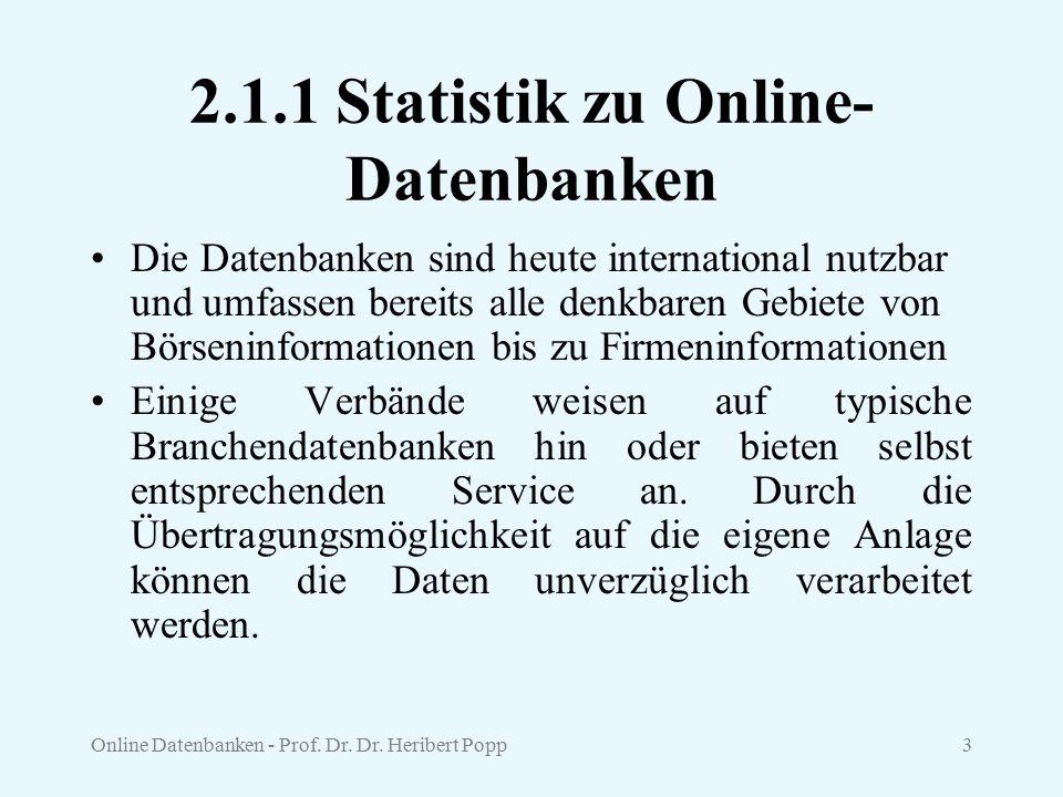 Online Datenbanken - Prof.Dr. Dr.