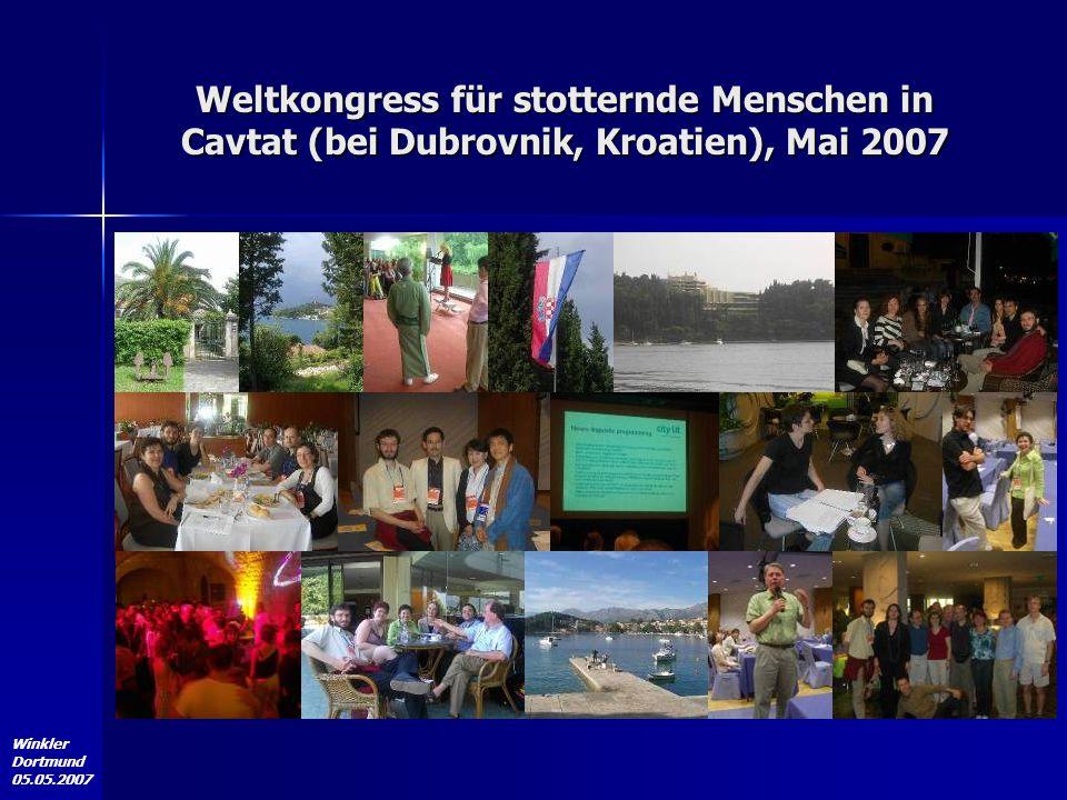 Winkler Dortmund 05.05.2007 Weltkongress für stotternde Menschen in Cavtat (bei Dubrovnik, Kroatien), Mai 2007