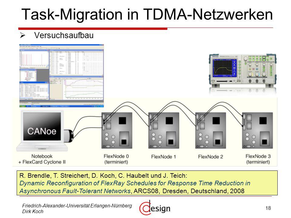 18 Friedrich-Alexander-Universität Erlangen-Nürnberg Dirk Koch Task-Migration in TDMA-Netzwerken  Versuchsaufbau R.