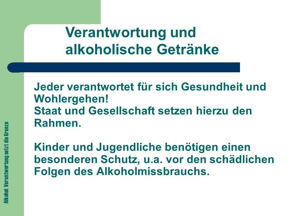 """Alkohol: Verantwortung setzt die Grenze Verantwortung bei der Abgabe von alkoholischen Getränken Gastronomie: Deutliche Hinweise zum Jugendschutz """"Wir halten uns dran! aushängen Alterskontrolle Verweigerung des Ausschanks an Kinder und Jugendliche Verweigerung des Ausschanks bei stark angetrunkenen Gästen"""