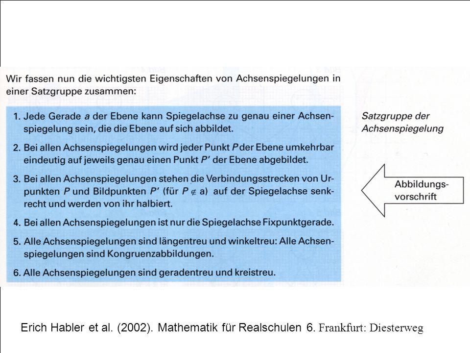 Erich Habler et al. (2002). Mathematik für Realschulen 6. Frankfurt: Diesterweg