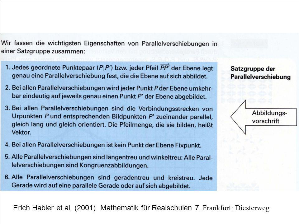 Erich Habler et al. (2001). Mathematik für Realschulen 7. Frankfurt: Diesterweg