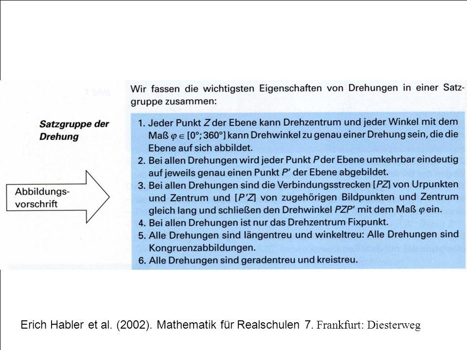 Erich Habler et al. (2002). Mathematik für Realschulen 7. Frankfurt: Diesterweg