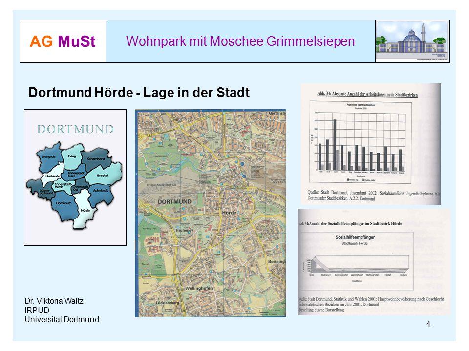 AG MuSt Wohnpark mit Moschee Grimmelsiepen Dr. Viktoria Waltz IRPUD Universität Dortmund Dortmund Hörde - Lage in der Stadt 4