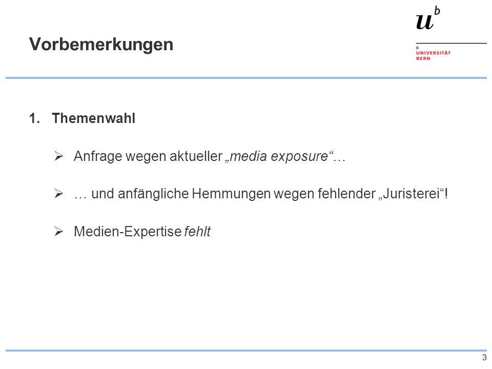"""33 Vorbemerkungen 1.Themenwahl  Anfrage wegen aktueller """"media exposure …  … und anfängliche Hemmungen wegen fehlender """"Juristerei ."""