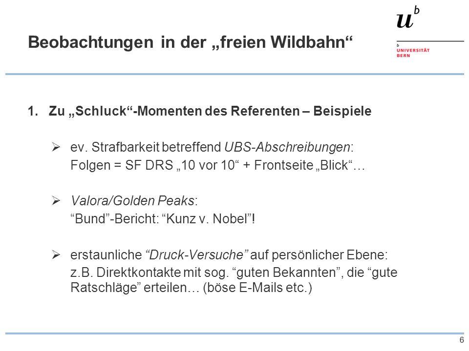 """66 Beobachtungen in der """"freien Wildbahn 1.Zu """"Schluck -Momenten des Referenten – Beispiele  ev."""