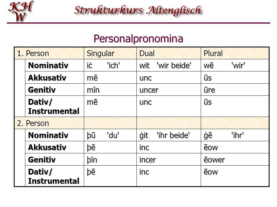 Personalpronomina 1.