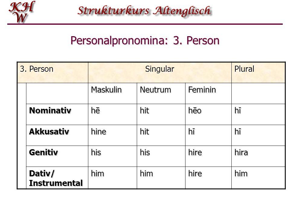 Personalpronomina: 3.Person 3.