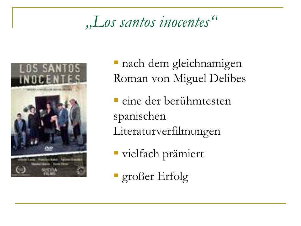 """""""Los santos inocentes  nach dem gleichnamigen Roman von Miguel Delibes  eine der berühmtesten spanischen Literaturverfilmungen  vielfach prämiert  großer Erfolg"""