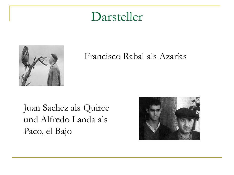 Darsteller Francisco Rabal als Azarías Juan Sachez als Quirce und Alfredo Landa als Paco, el Bajo