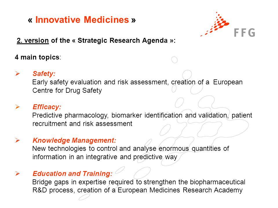 « Innovative Medicines » 2.