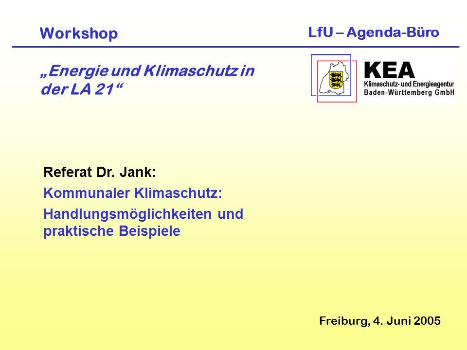 """Workshop """"Energie und Klimaschutz in der LA 21 Freiburg, 4."""