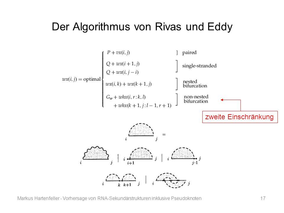Markus Hartenfeller - Vorhersage von RNA-Sekundärstrukturen inklusive Pseudoknoten17 Der Algorithmus von Rivas und Eddy zweite Einschränkung