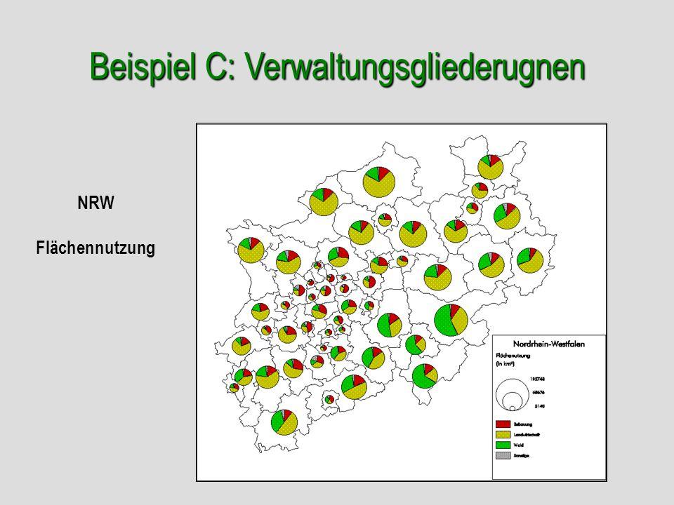 Beispiel C: Verwaltungsgliederugnen NRW Flächennutzung