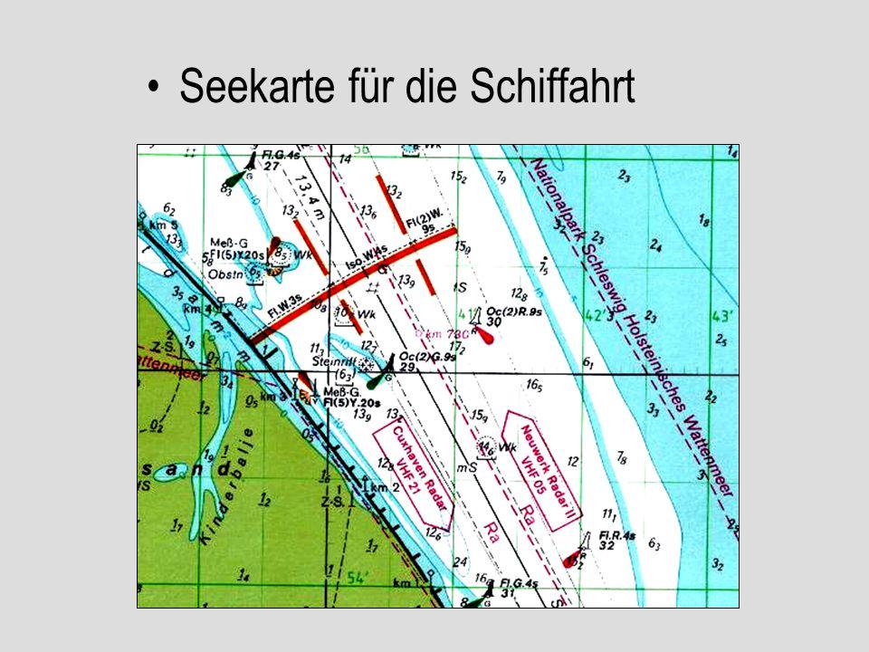 Seekarte für die Schiffahrt