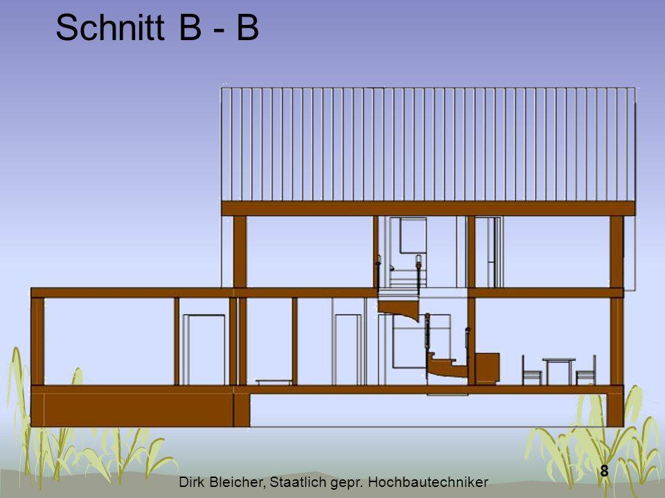 Dirk Bleicher, Staatlich gepr. Hochbautechniker 9 Schnitt C - C