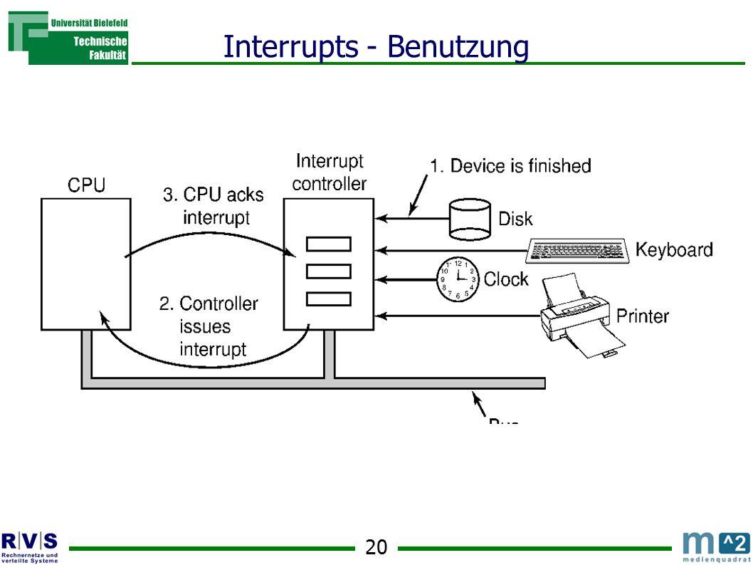 20 Interrupts - Benutzung