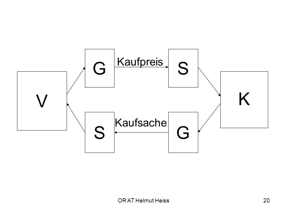 OR AT Helmut Heiss20 V K GS SG Kaufpreis Kaufsache