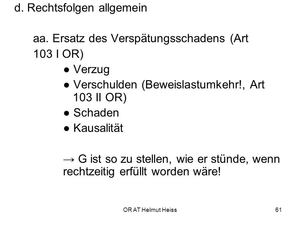 OR AT Helmut Heiss61 d.Rechtsfolgen allgemein aa.