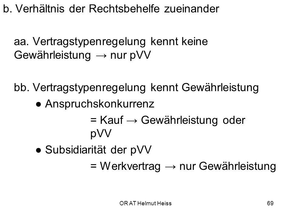 OR AT Helmut Heiss69 b.Verhältnis der Rechtsbehelfe zueinander aa.