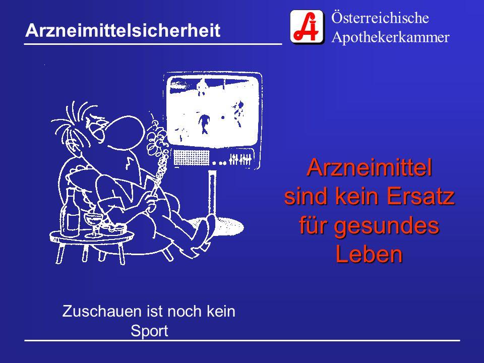 Österreichische Apothekerkammer Arzneimittelsicherheit Nicht jedem passt der gleiche Schuh Nicht jedes Arzneimittel wirkt bei jedem Menschen gleich