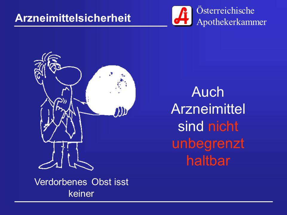 Österreichische Apothekerkammer Arzneimittelsicherheit Zuschauen ist noch kein Sport Arzneimittel sind kein Ersatz für gesundes Leben