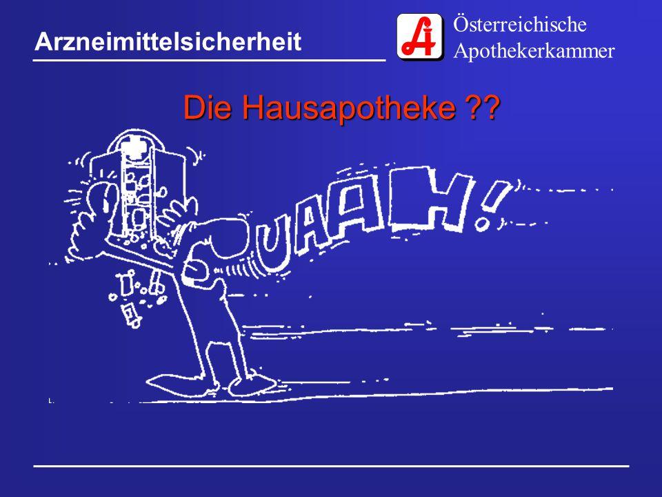 Österreichische Apothekerkammer Arzneimittelsicherheit Die Hausapotheke
