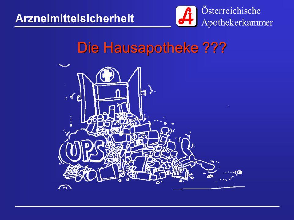 Österreichische Apothekerkammer Arzneimittelsicherheit Die Hausapotheke ???