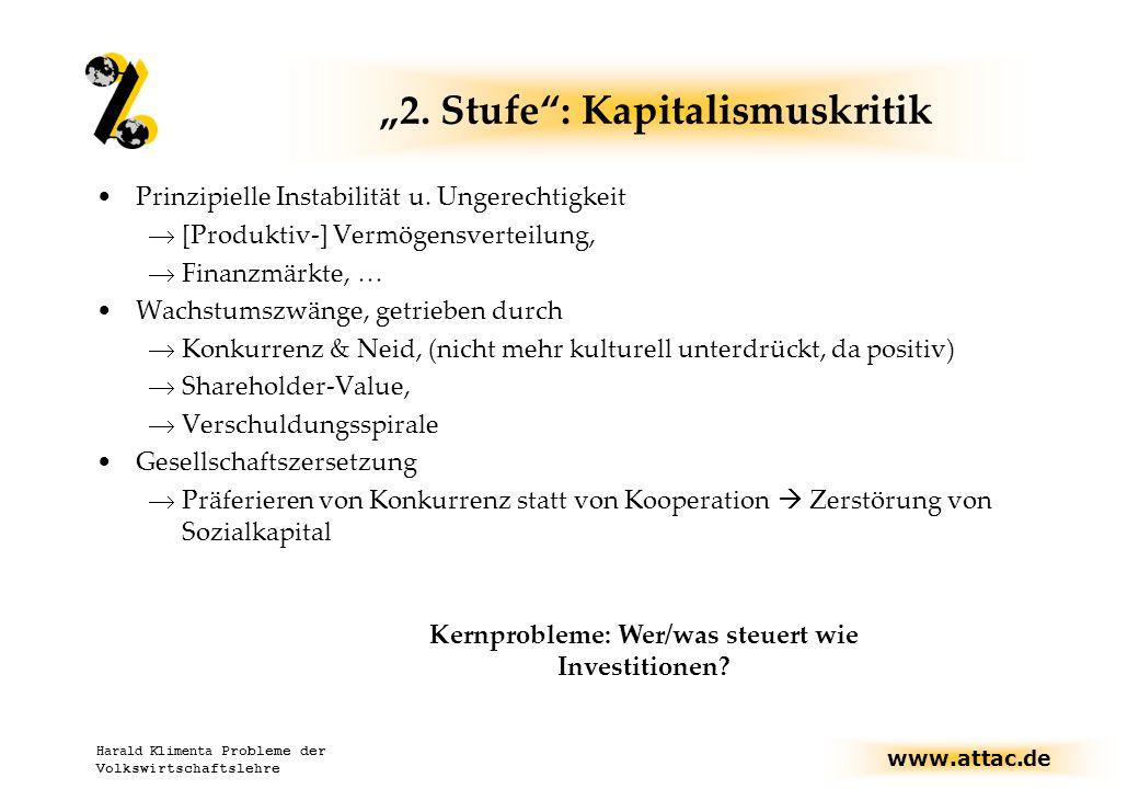 """www.attac.de Harald Klimenta Probleme der Volkswirtschaftslehre """"2."""