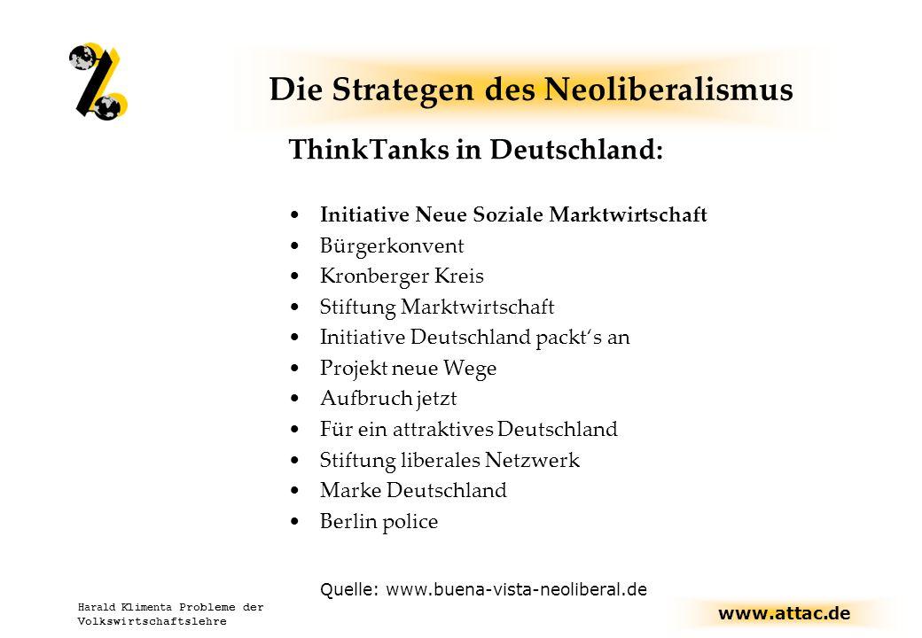 www.attac.de Harald Klimenta Probleme der Volkswirtschaftslehre Welthandel...
